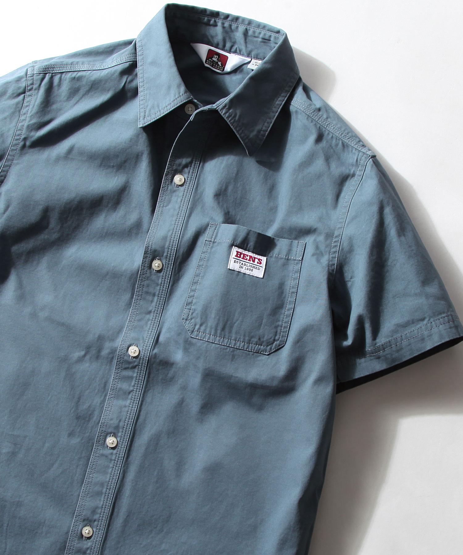 【BEN DAVIS】LOGO名牌刺繡工裝襯衫 短袖 2