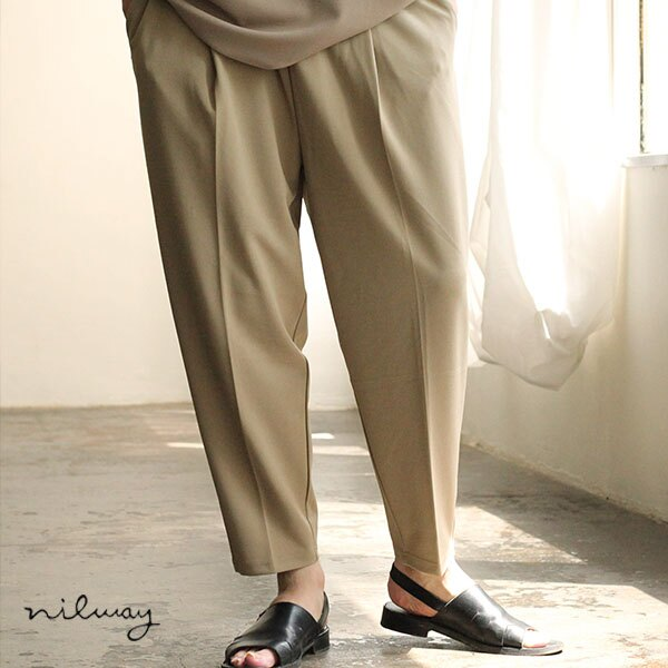 【Nilway】錐形鬆緊長褲 0
