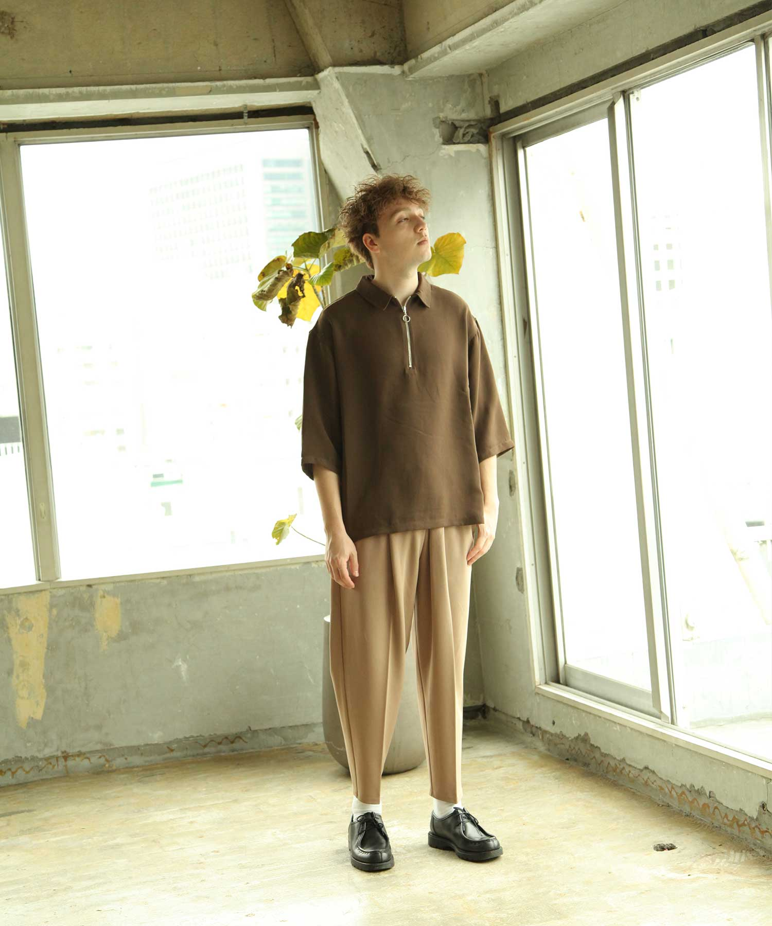 【Nilway】錐形鬆緊長褲 6