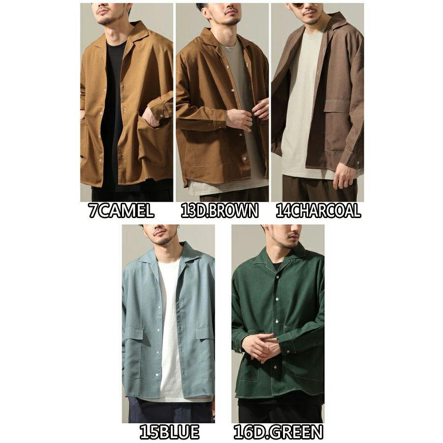 【New】ZIP 寬版開襟襯衫 縫線設計 3