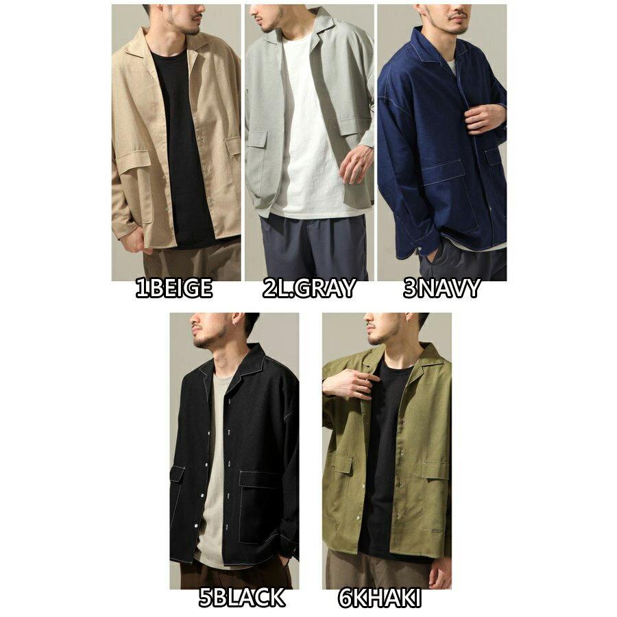【New】ZIP 寬版開襟襯衫 縫線設計 2