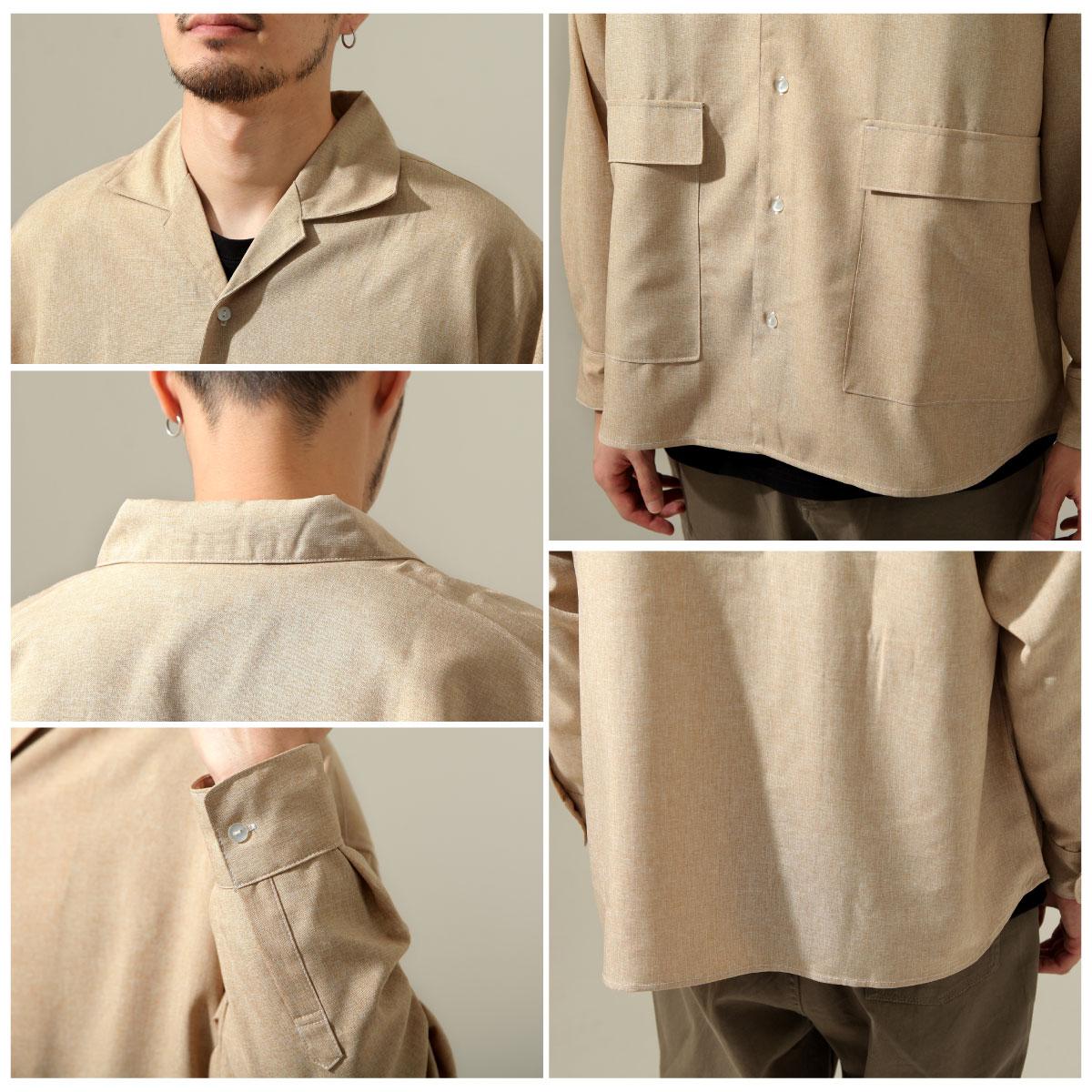 【New】ZIP 寬版開襟襯衫 縫線設計 5