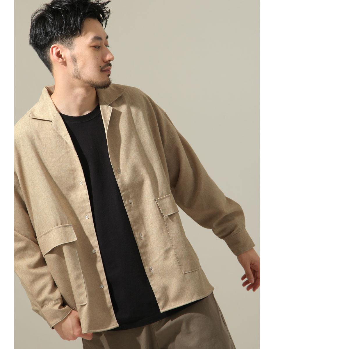 【New】ZIP 寬版開襟襯衫 縫線設計 7