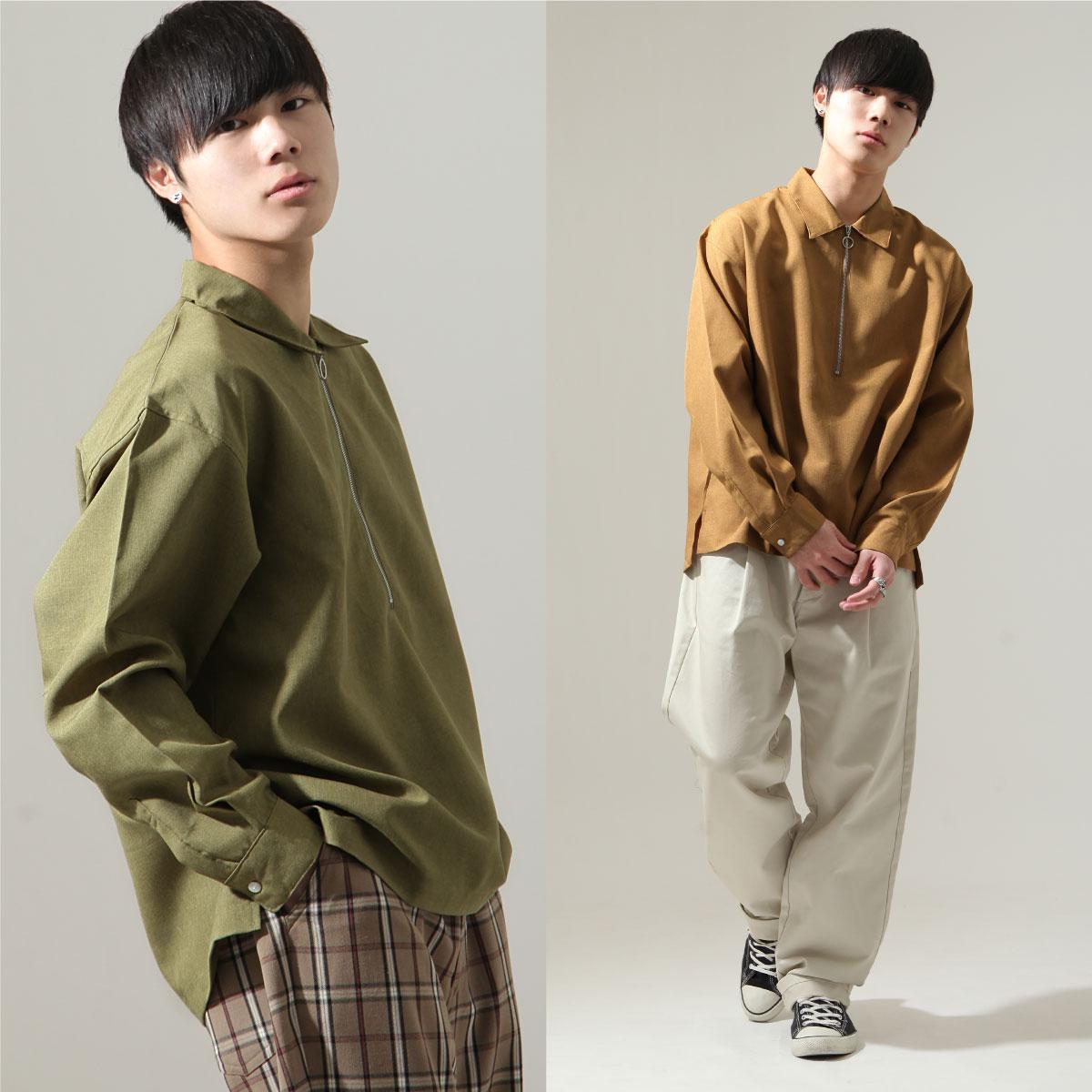 【New】ZIP 半拉鍊長袖襯衫 7