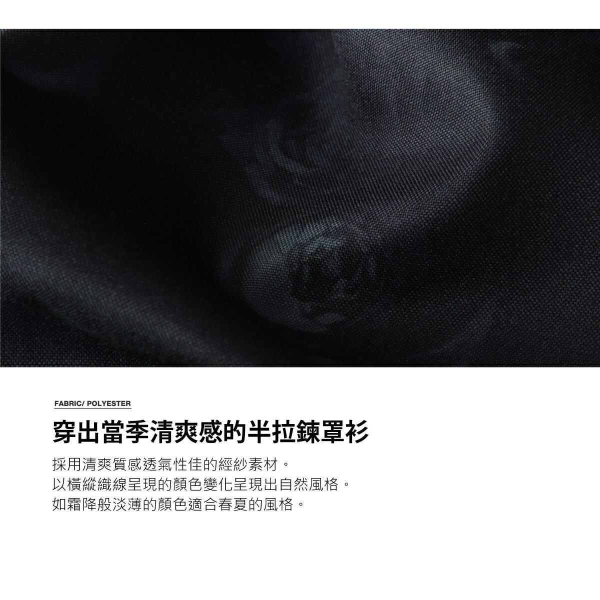 【ZIP】半拉鍊套頭衫 短袖 ZIP FIVE 襯衫 短袖 春裝 7