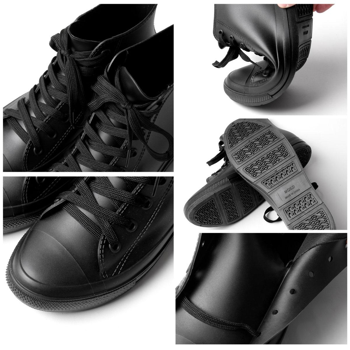 【New】ZIP 長筒 綁鞋帶雨鞋 3