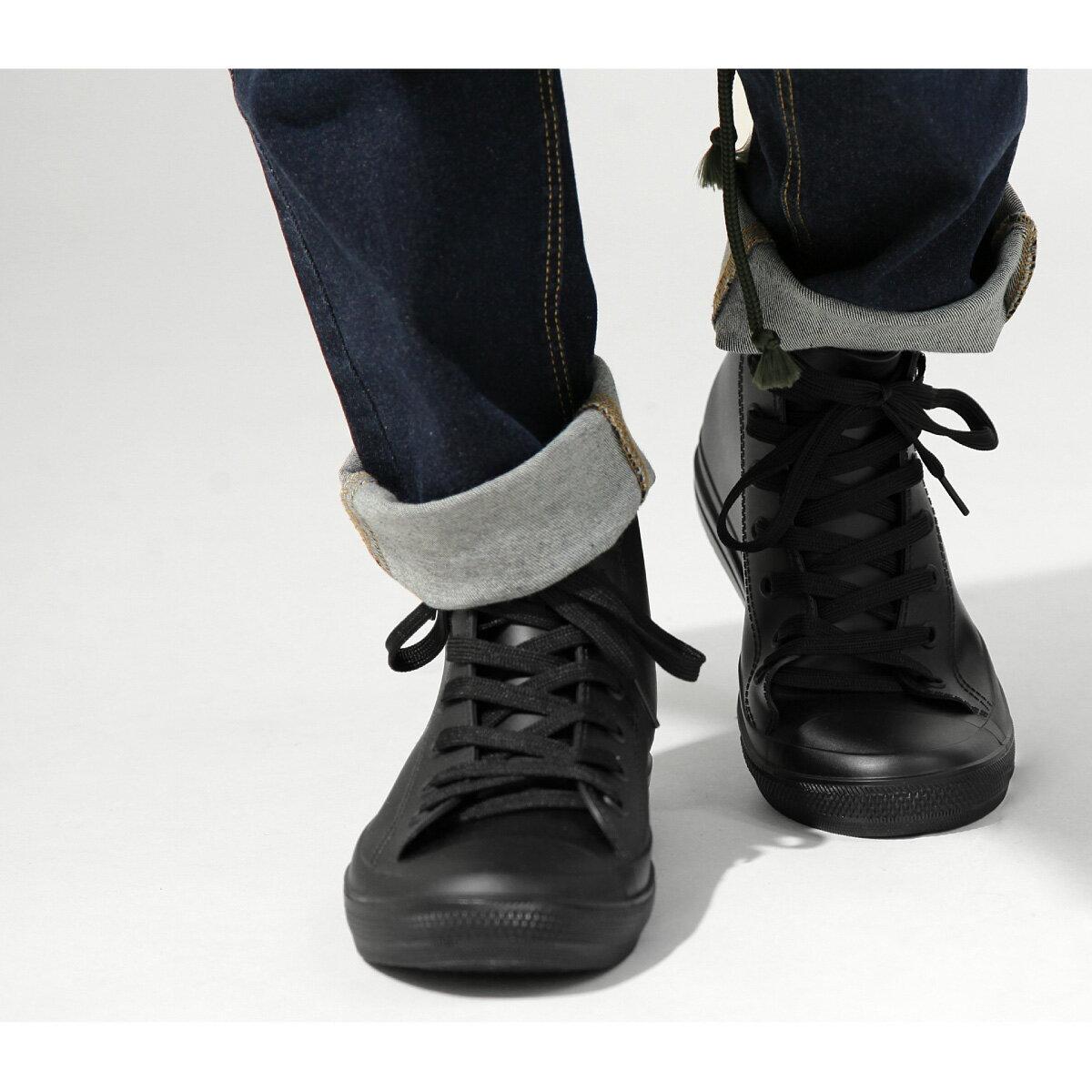 【New】ZIP 長筒 綁鞋帶雨鞋 4