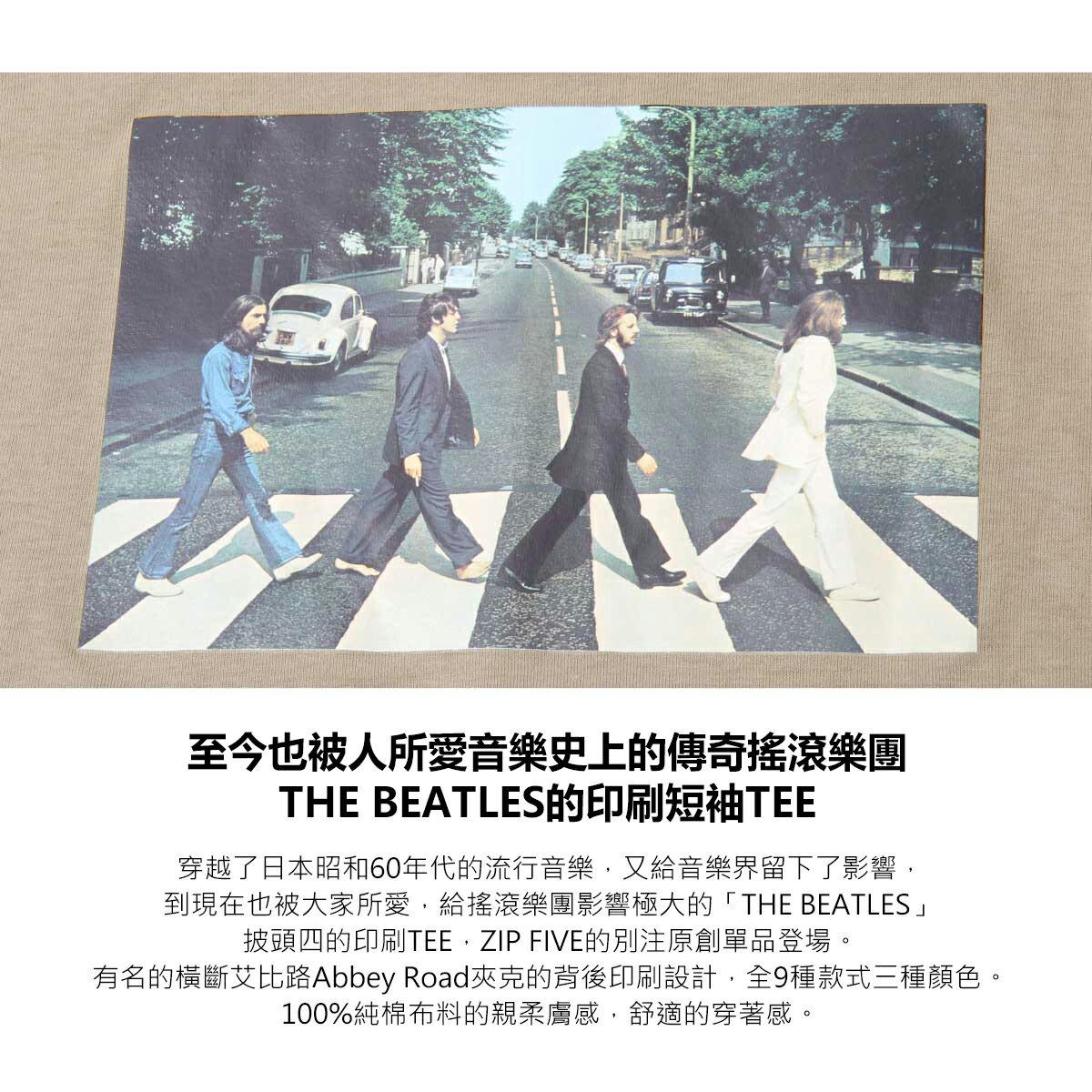 【New】披頭四印刷短袖T恤  Abbey Road 艾比路 披頭四 2
