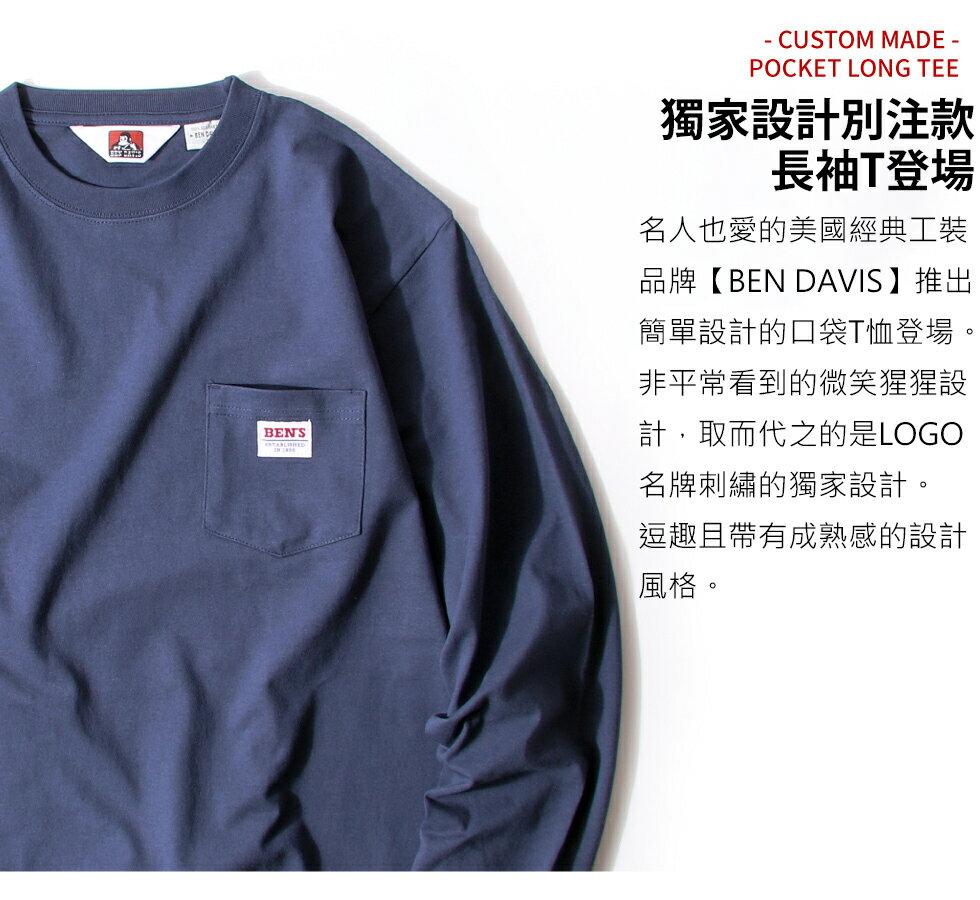 【BEN DAVIS】LOGO名牌刺繡長袖T恤 別注款 2