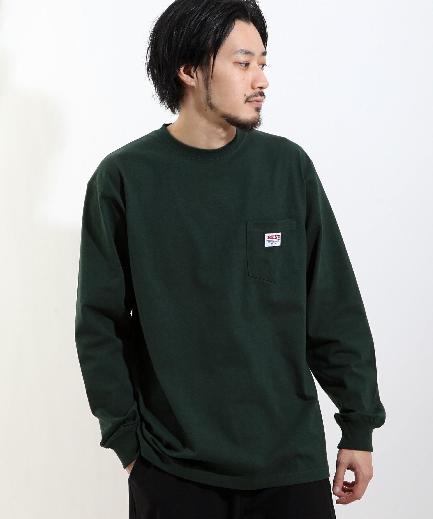 【BEN DAVIS】LOGO名牌刺繡長袖T恤 別注款 1