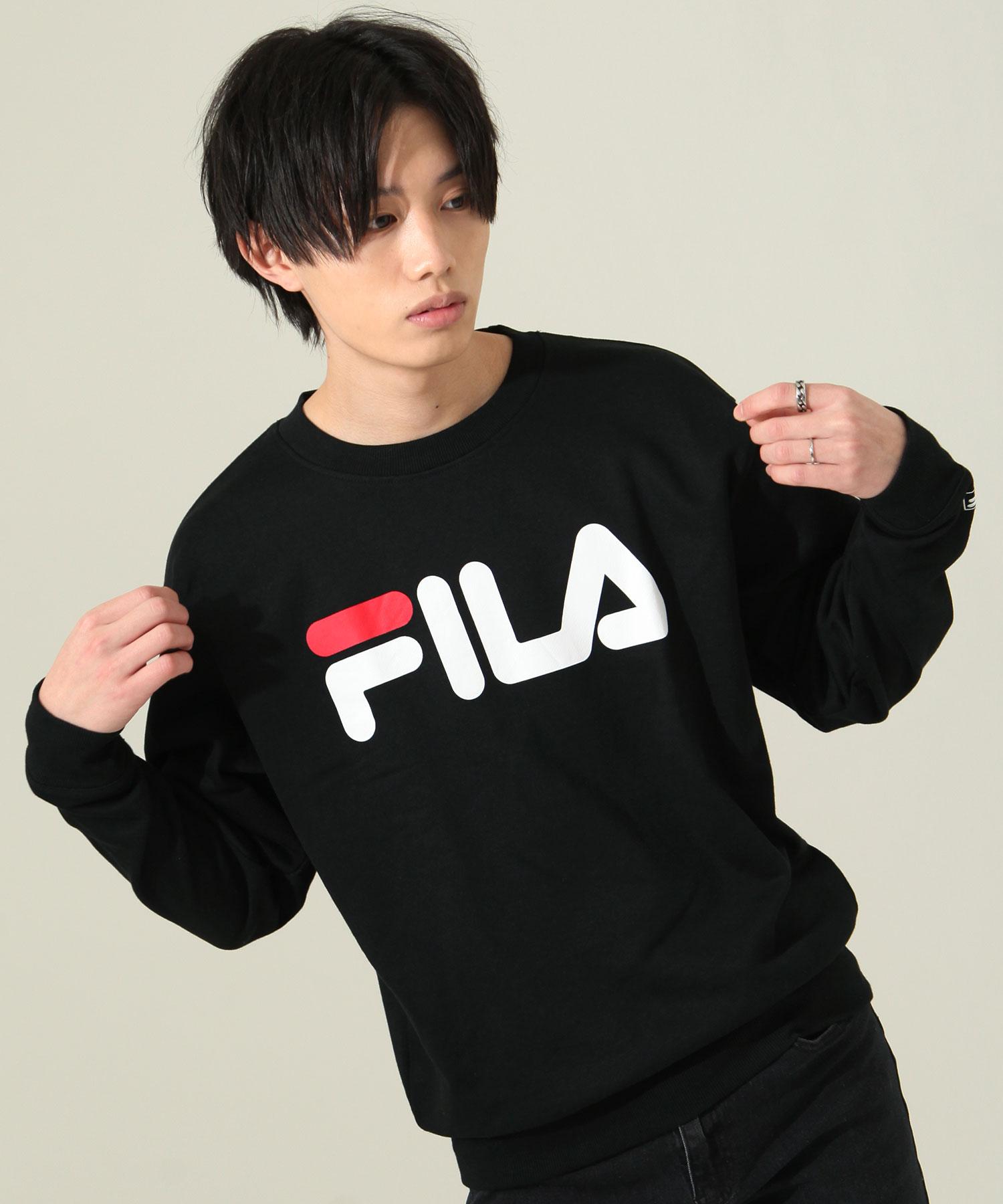 【FILA】經典LOGO印刷運動衫 4