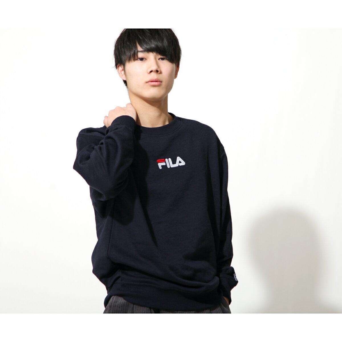 【FILA】單點LOGO刺繡圓領運動衫 1