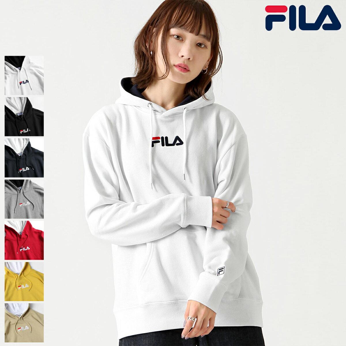 【FILA】單點LOGO刺繡連帽T恤 0