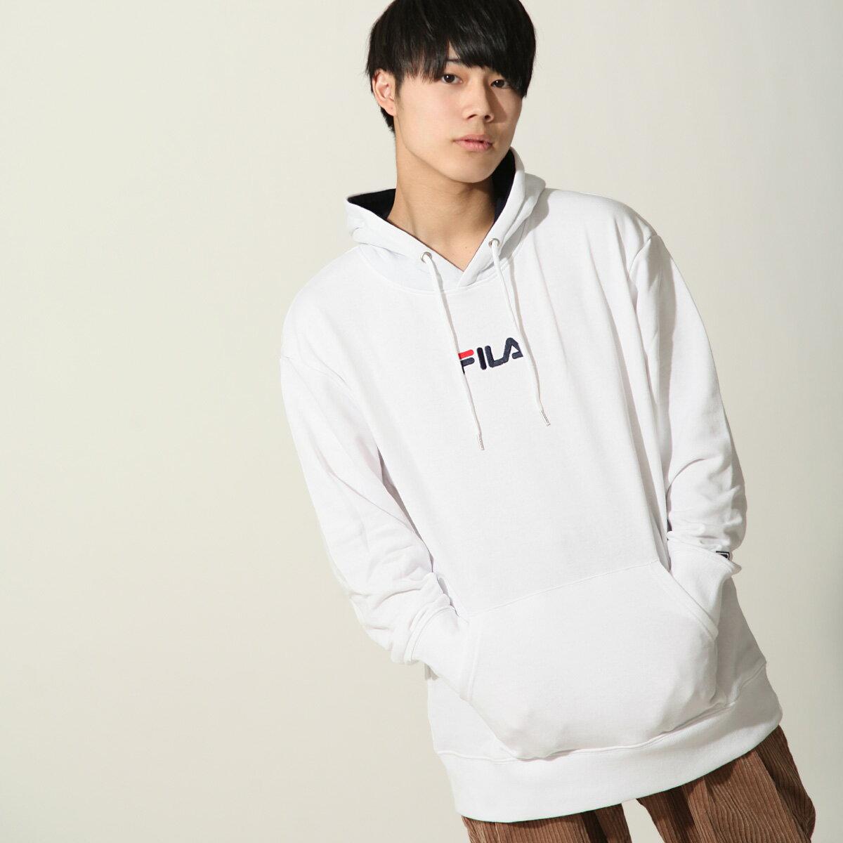 【FILA】單點LOGO刺繡連帽T恤 1