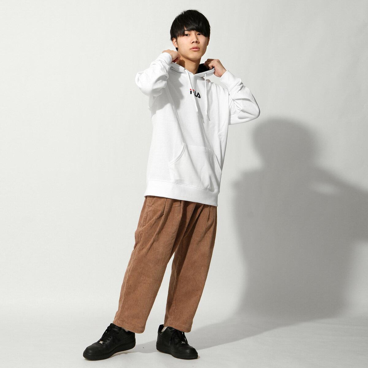 【FILA】單點LOGO刺繡連帽T恤 2