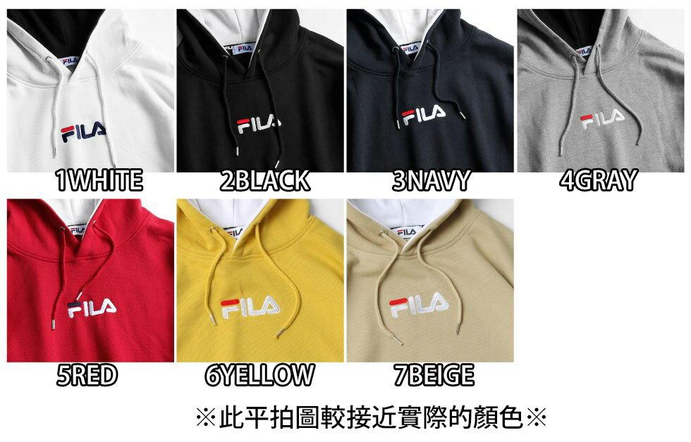 【FILA】單點LOGO刺繡連帽T恤 7