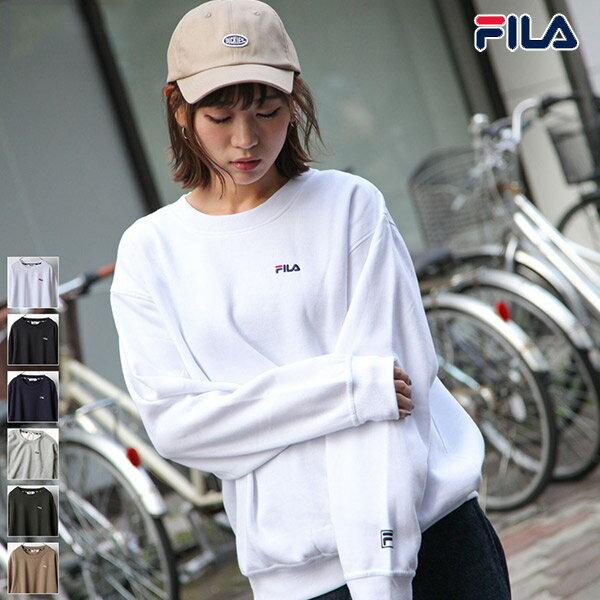 【FILA】LOGO刺繡內刷毛運動衫 0