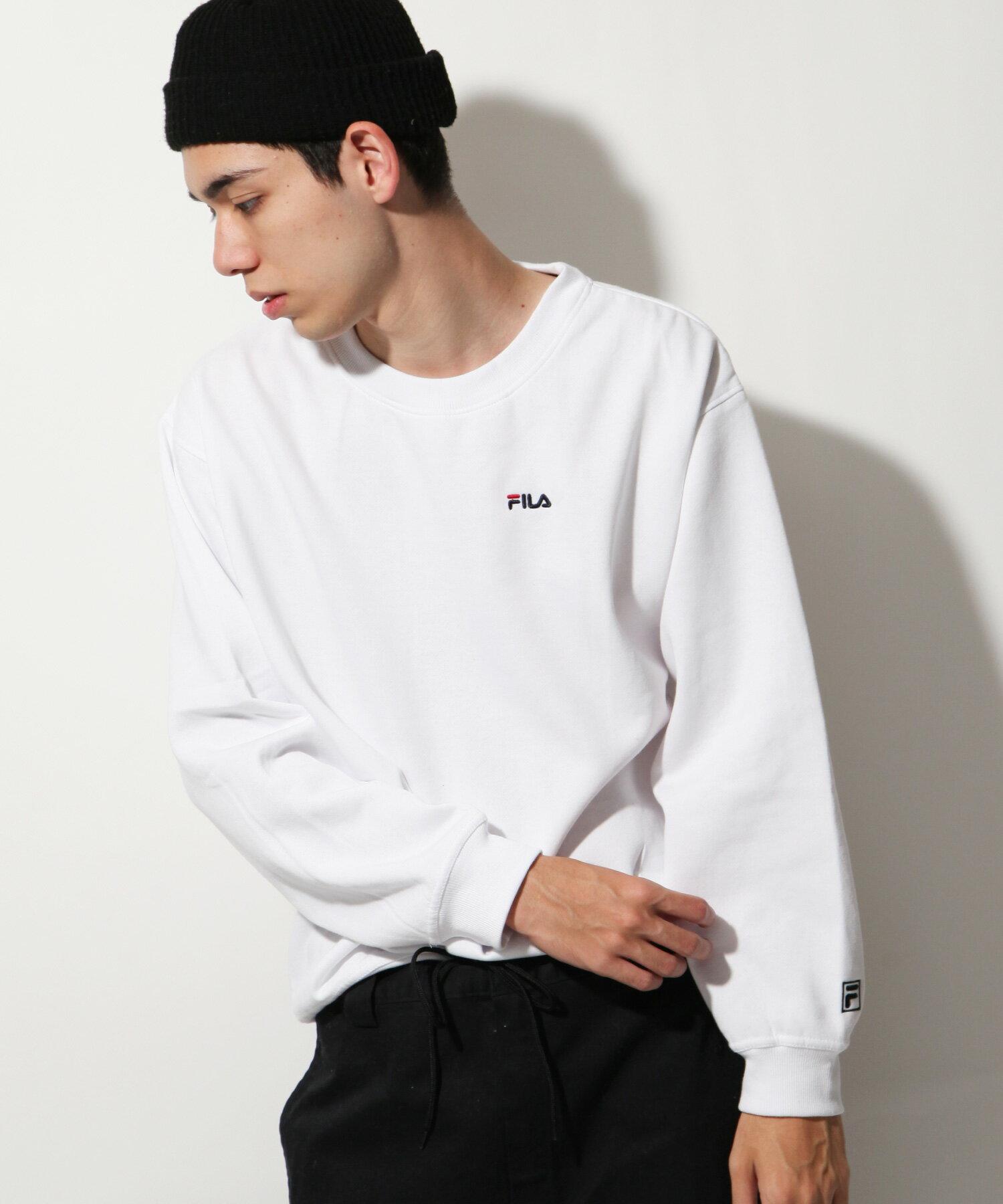 【FILA】LOGO刺繡內刷毛運動衫 1