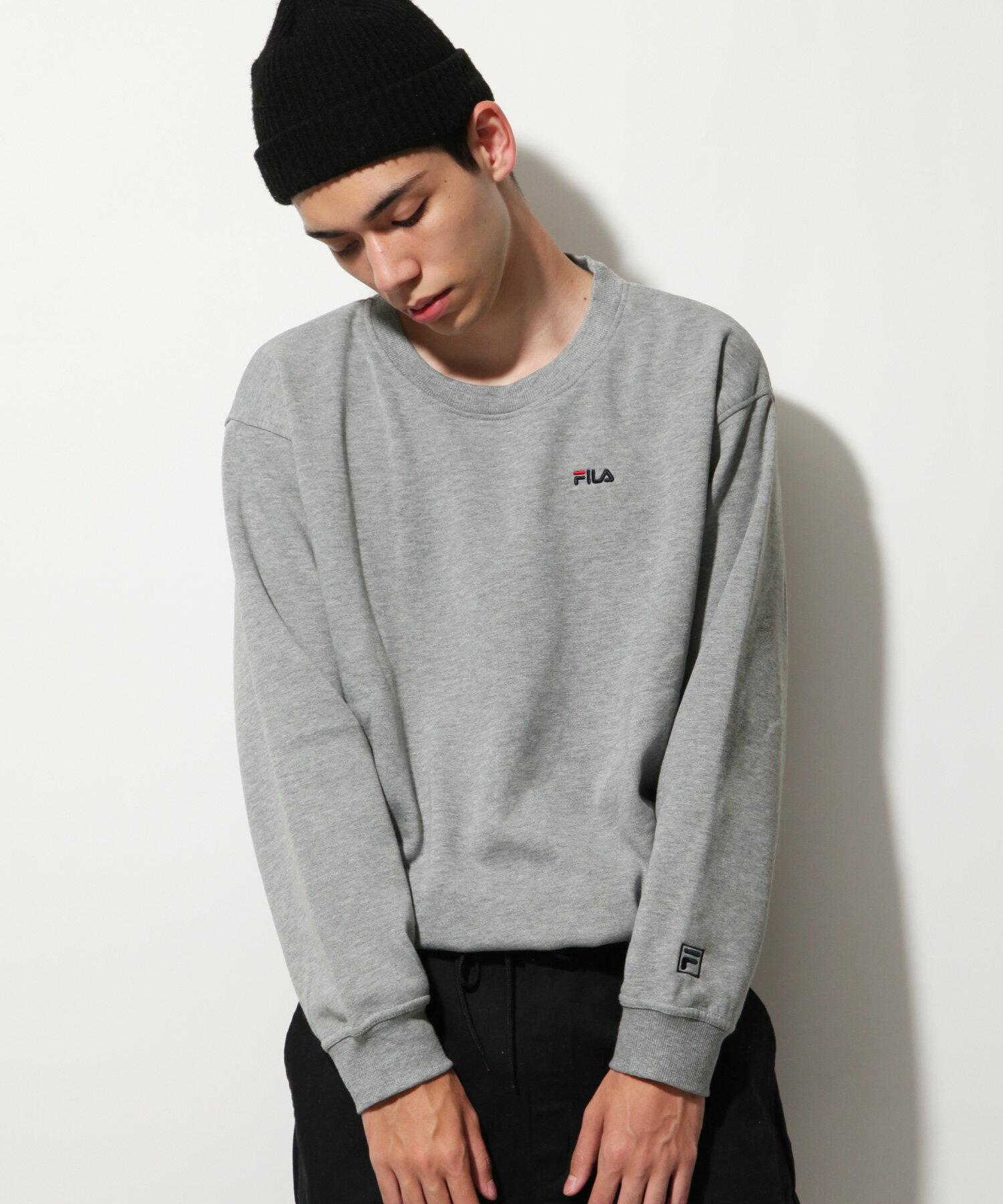 【FILA】LOGO刺繡內刷毛運動衫 2
