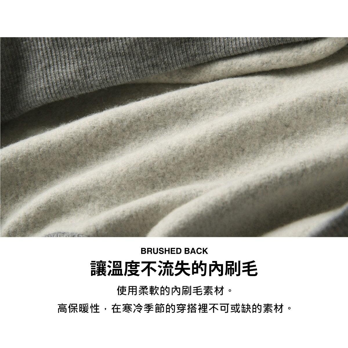 【FILA】LOGO刺繡內刷毛運動衫 7