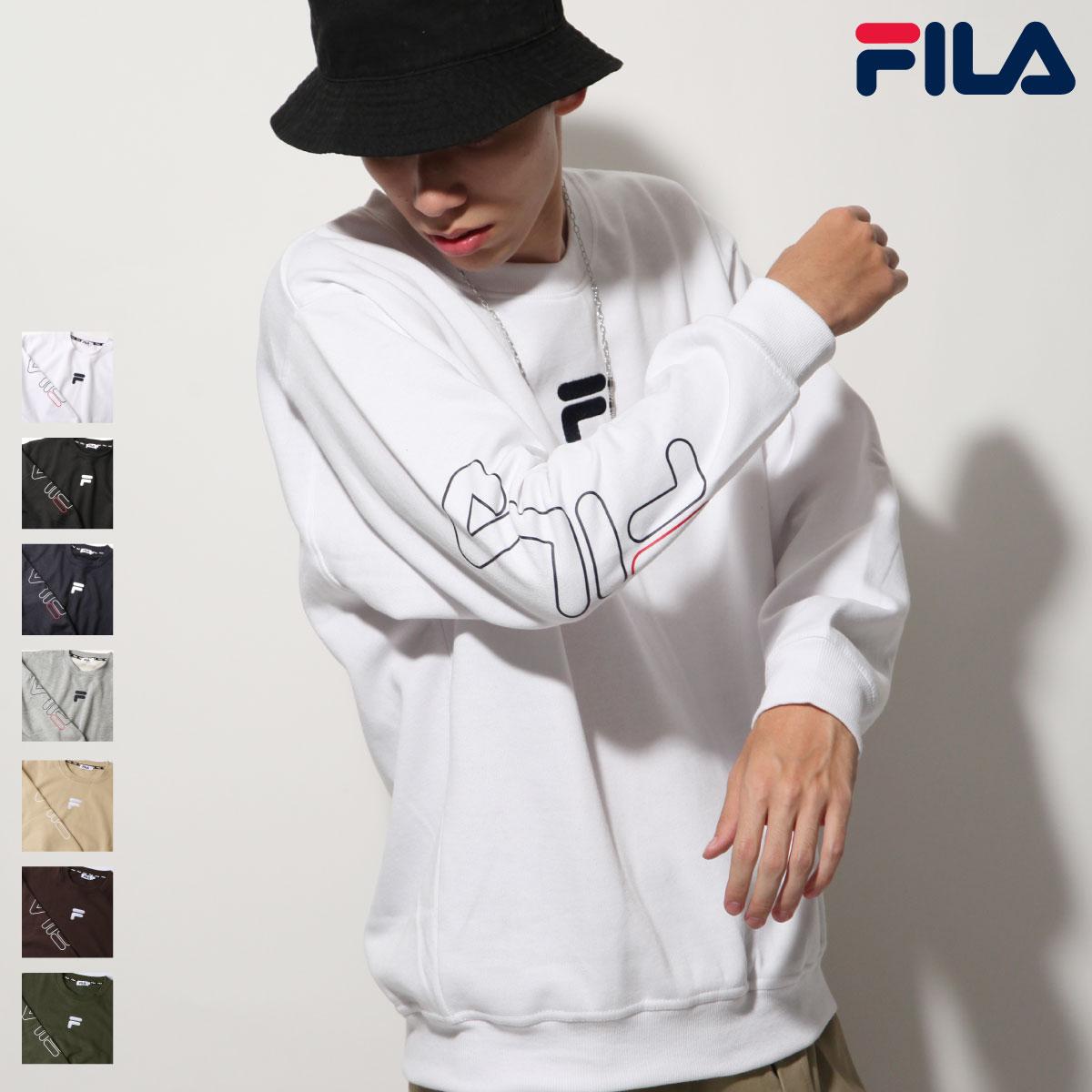 【FILA】袖子LOGO印刷內刷毛運動衫 0