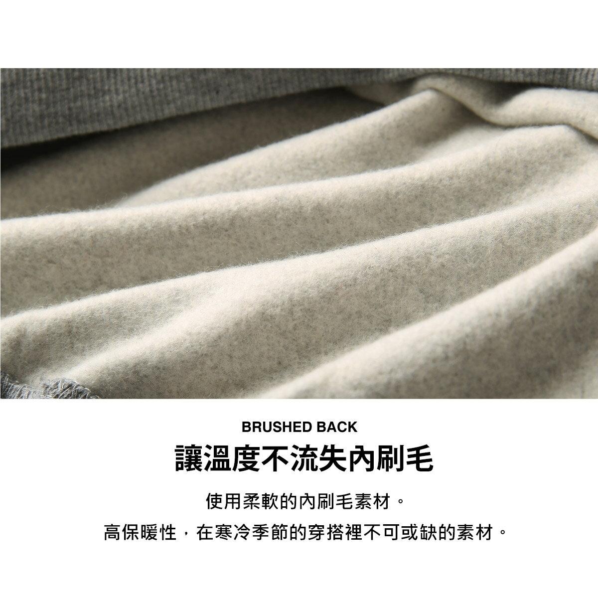 【FILA】袖子LOGO印刷內刷毛運動衫 5
