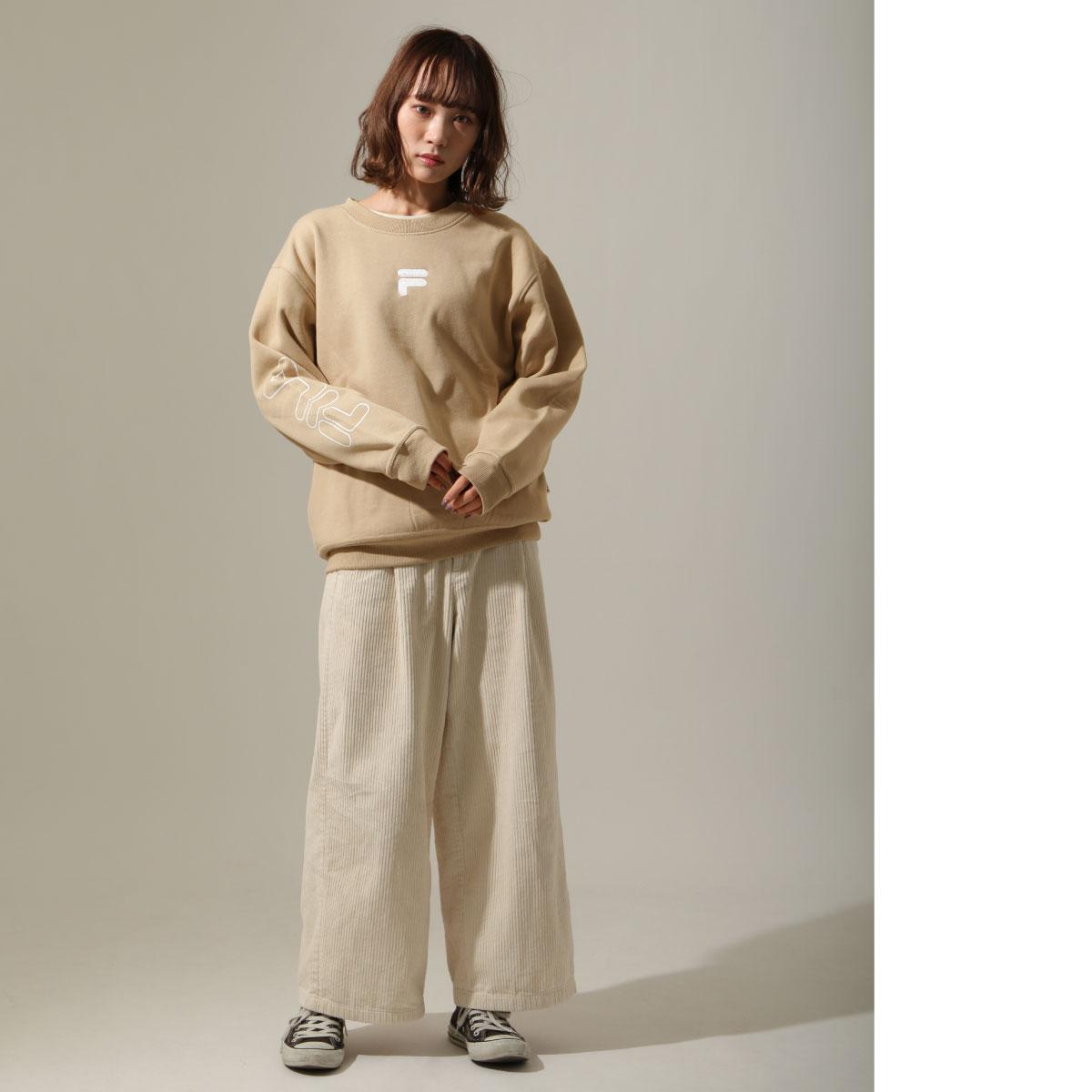 【FILA】袖子LOGO印刷內刷毛運動衫 6