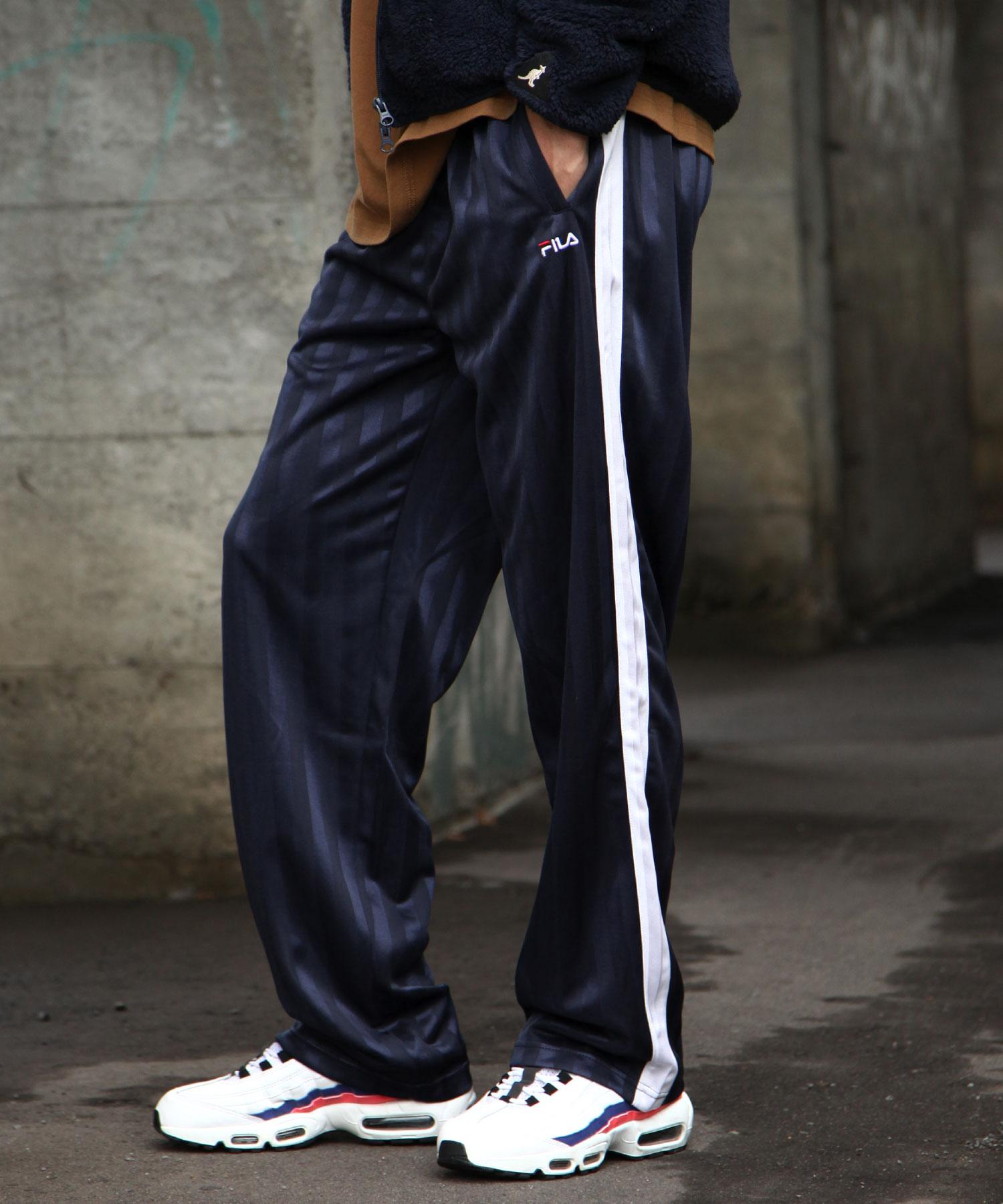 【FILA】寬版針織運動褲 3