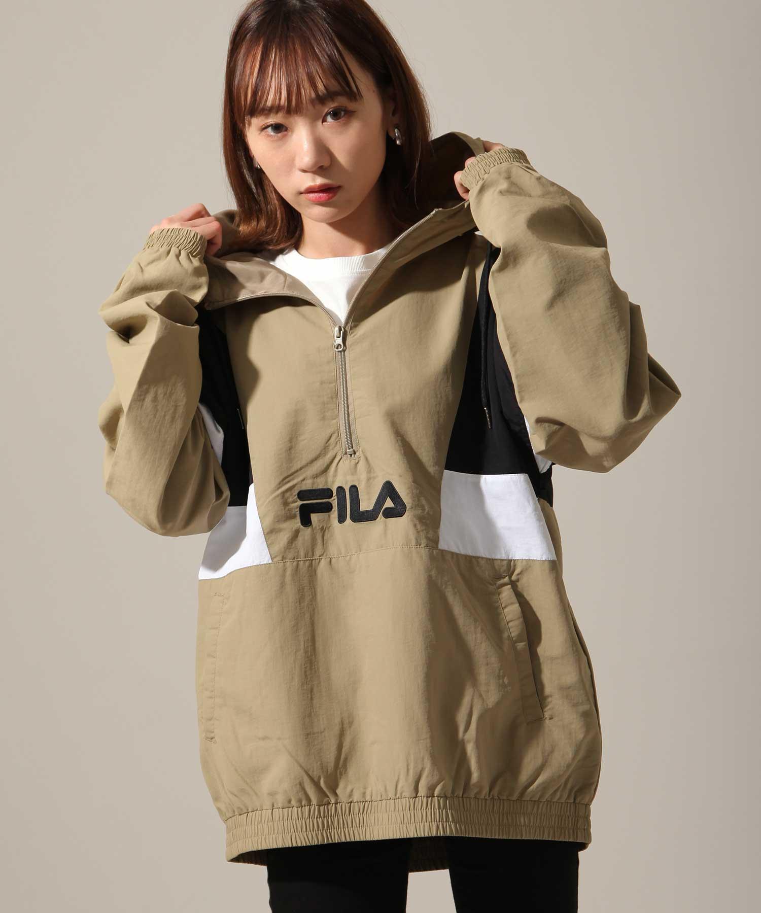 【FILA】半拉鍊運動衫 寬版 2
