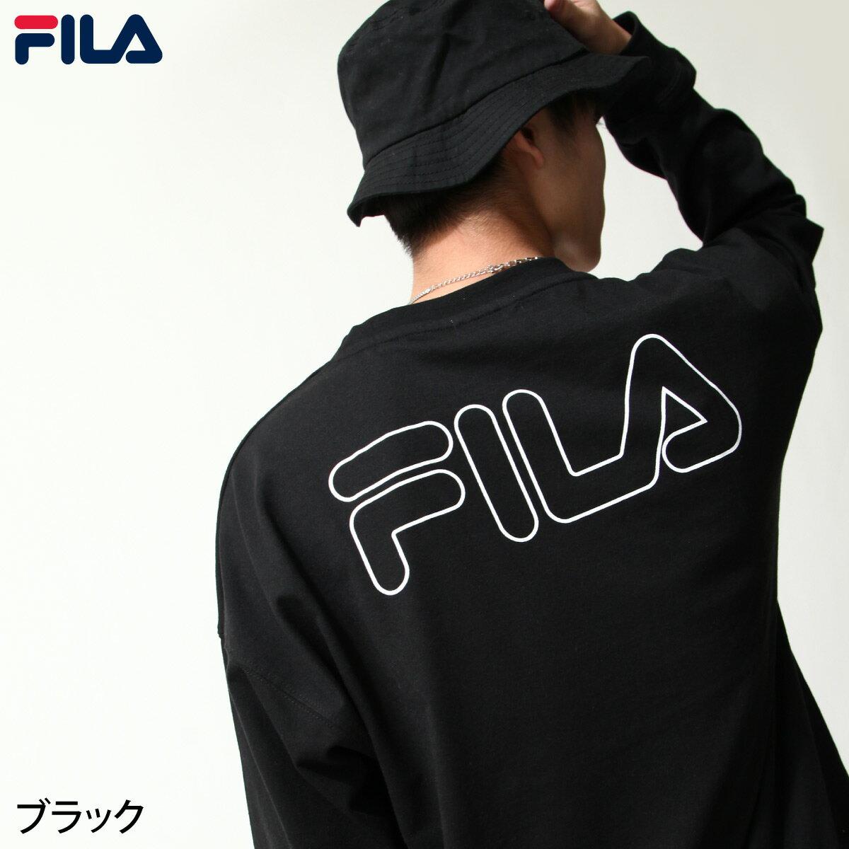 【FILA】背面印字LOGO長袖T恤 0