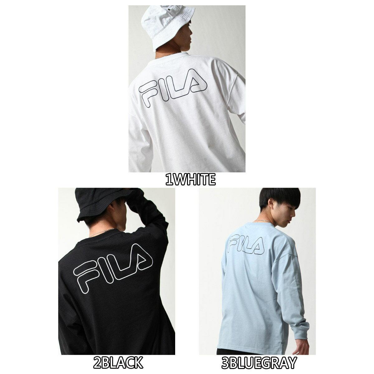 【FILA】背面印字LOGO長袖T恤 5