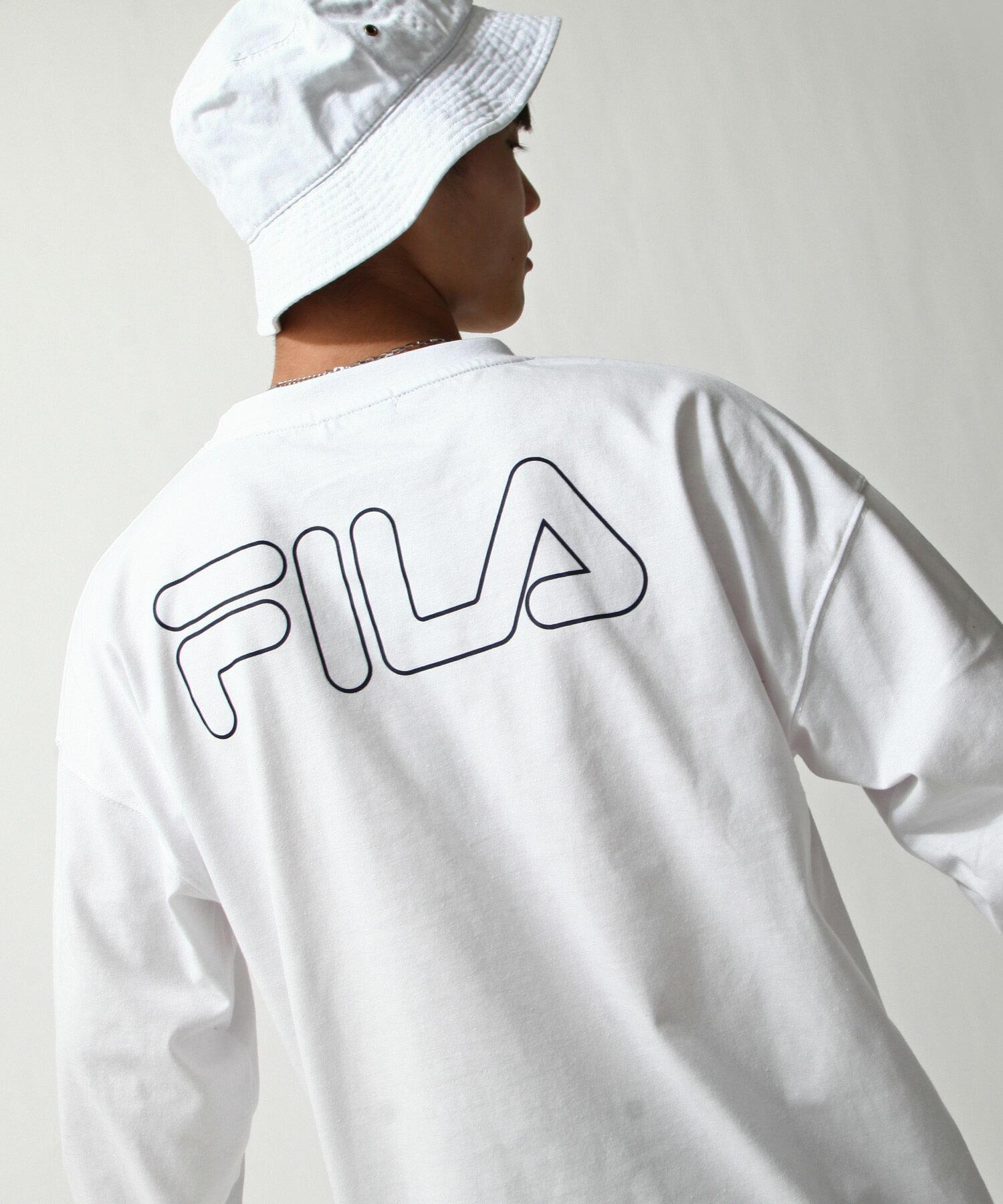 【FILA】背面印字LOGO長袖T恤 1