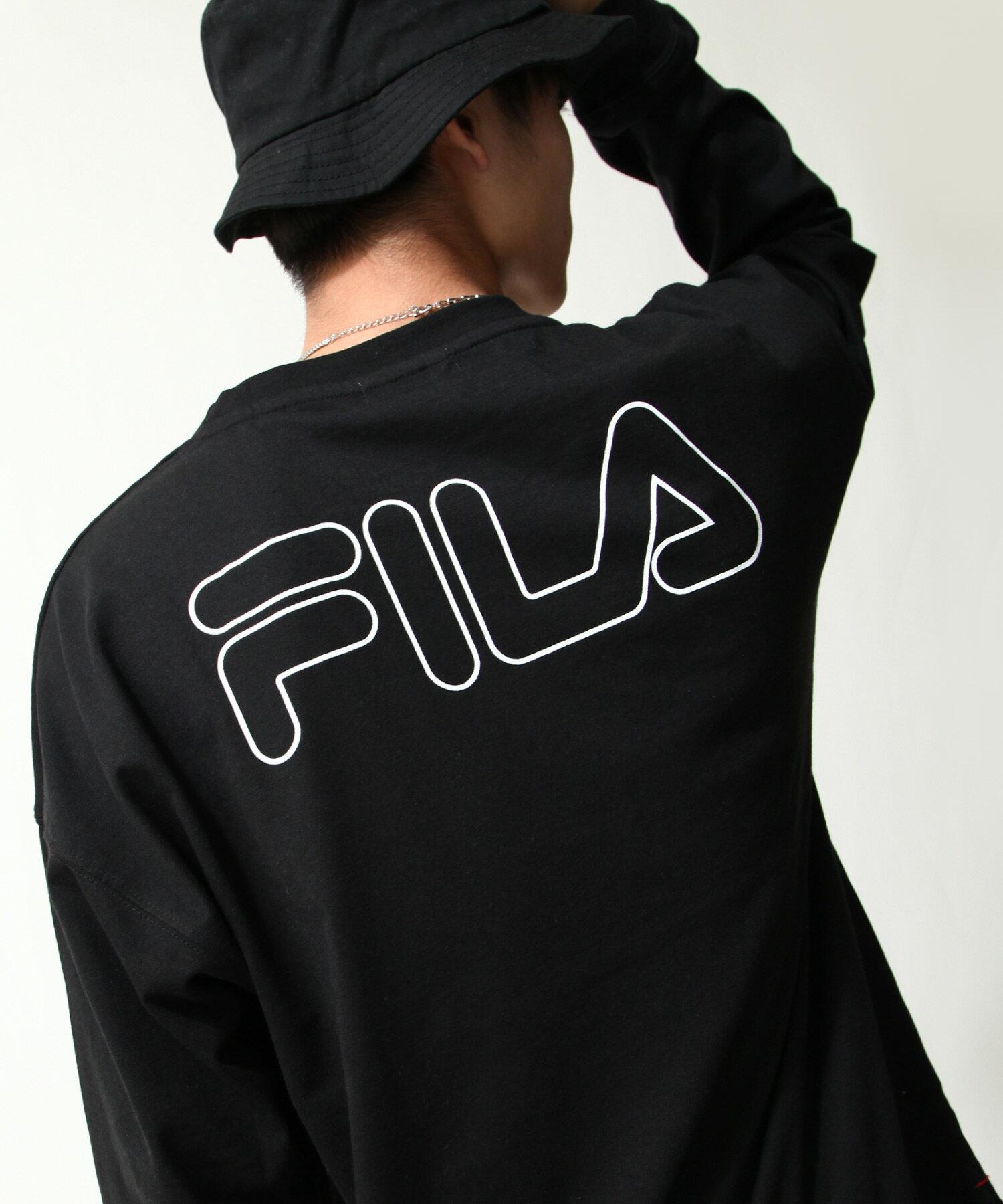 【FILA】背面印字LOGO長袖T恤 3