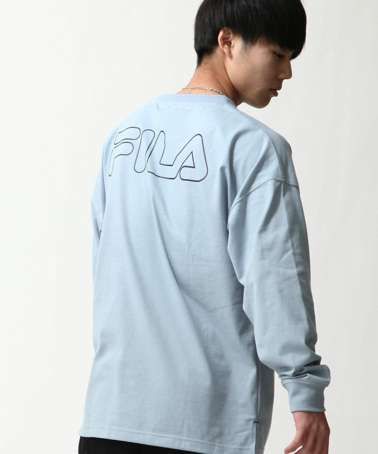 【FILA】背面印字LOGO長袖T恤 4
