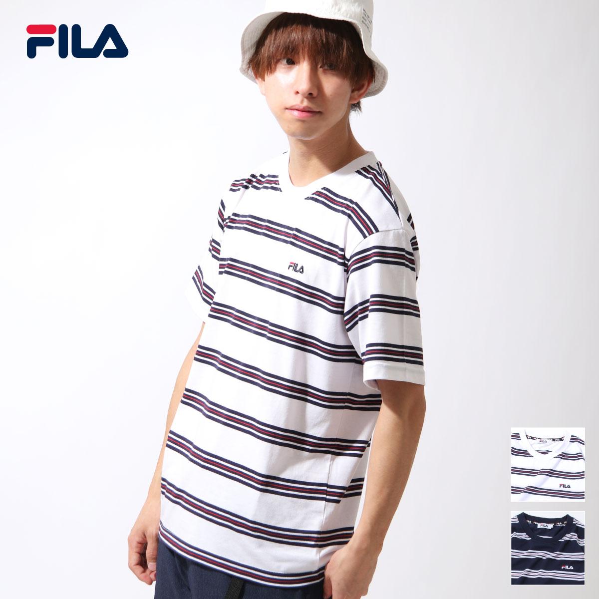 【FILA】橫條紋短袖TEE 0