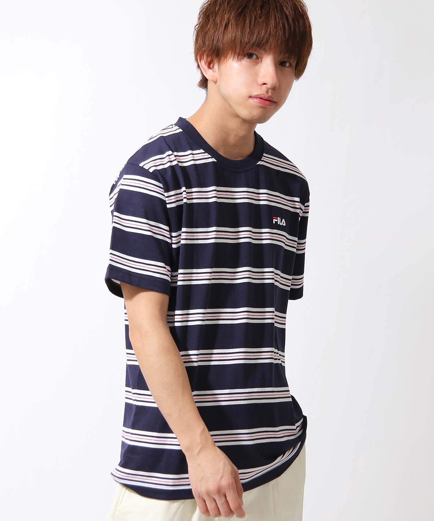 【FILA】橫條紋短袖TEE 1