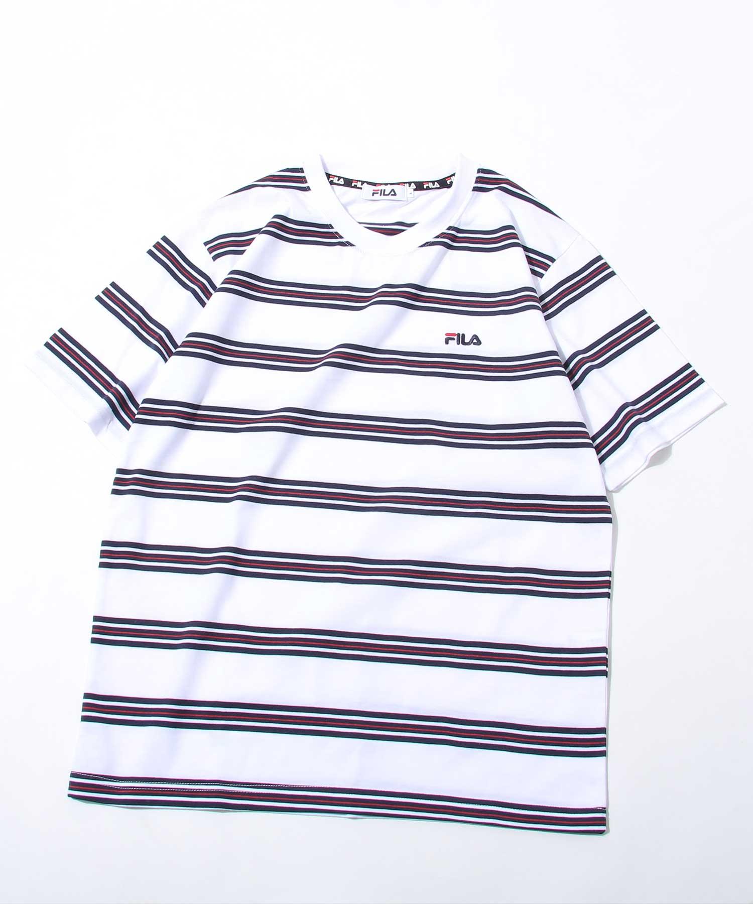 【FILA】橫條紋短袖TEE 2