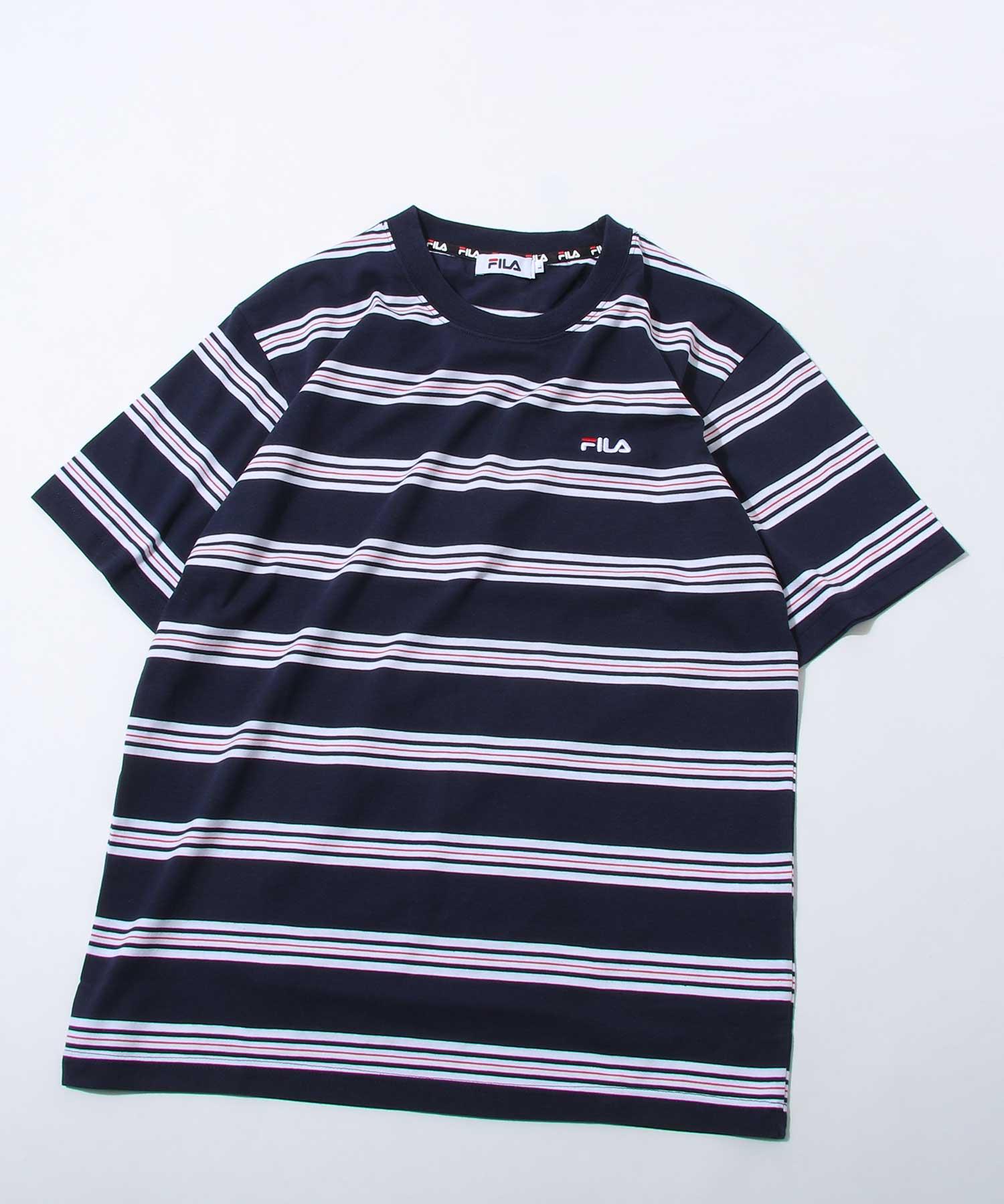 【FILA】橫條紋短袖TEE 3