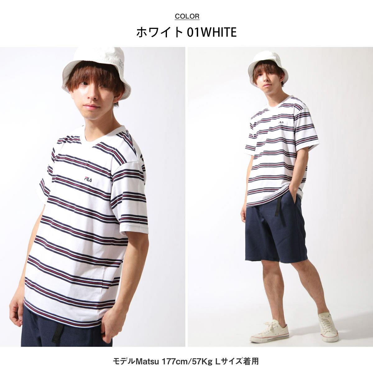 【FILA】橫條紋短袖TEE 4