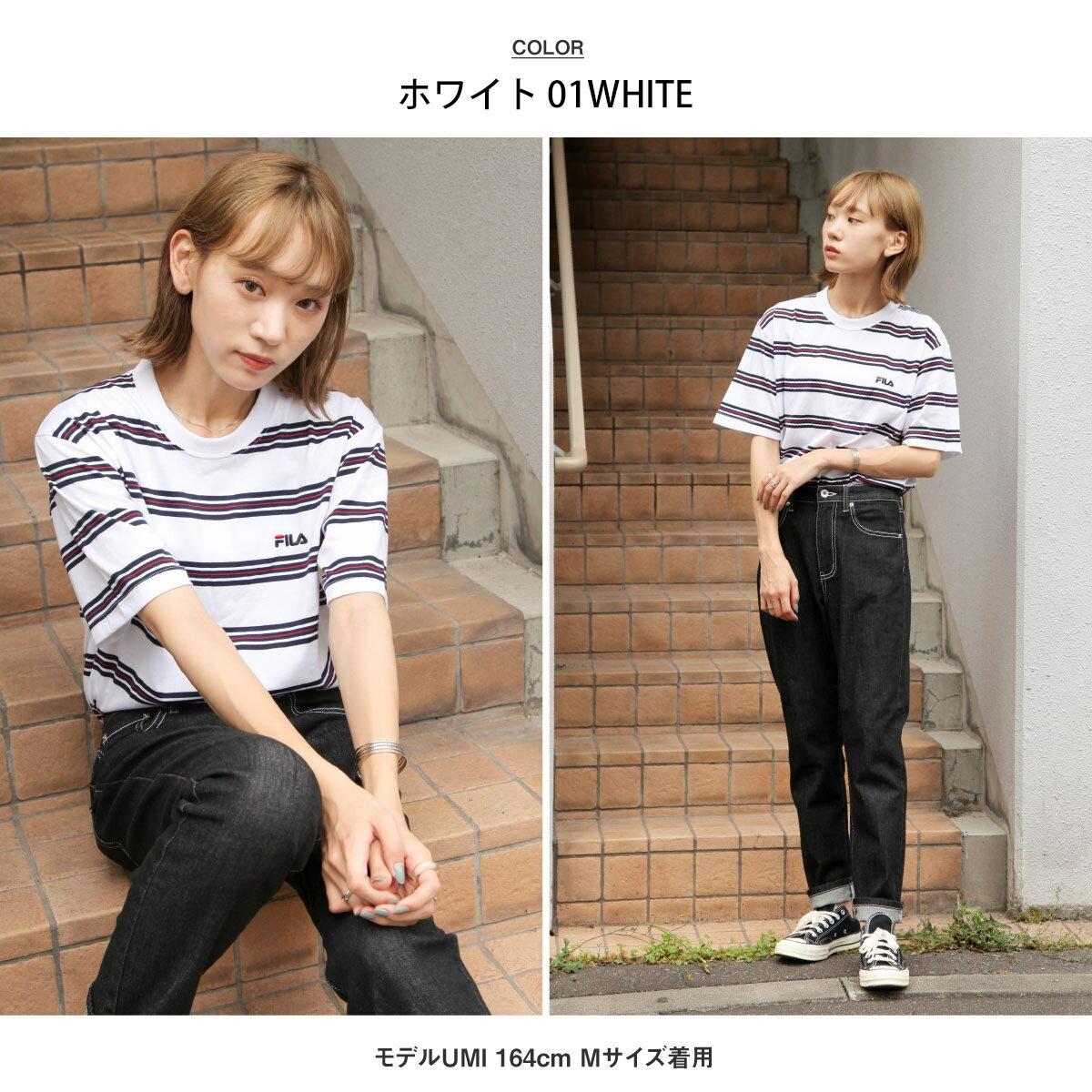 【FILA】橫條紋短袖TEE 6