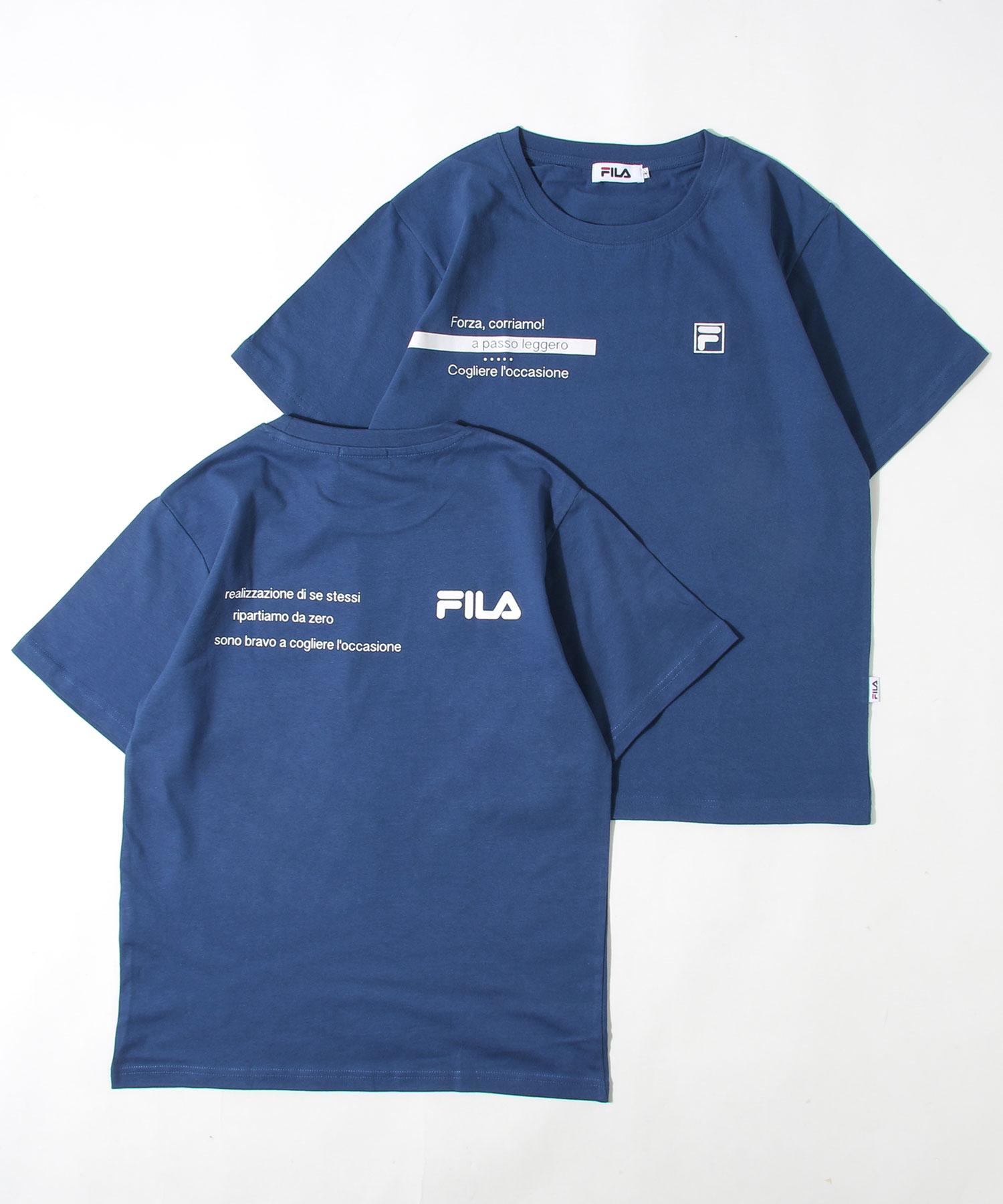 【FILA】LOGO印刷短TEE 1