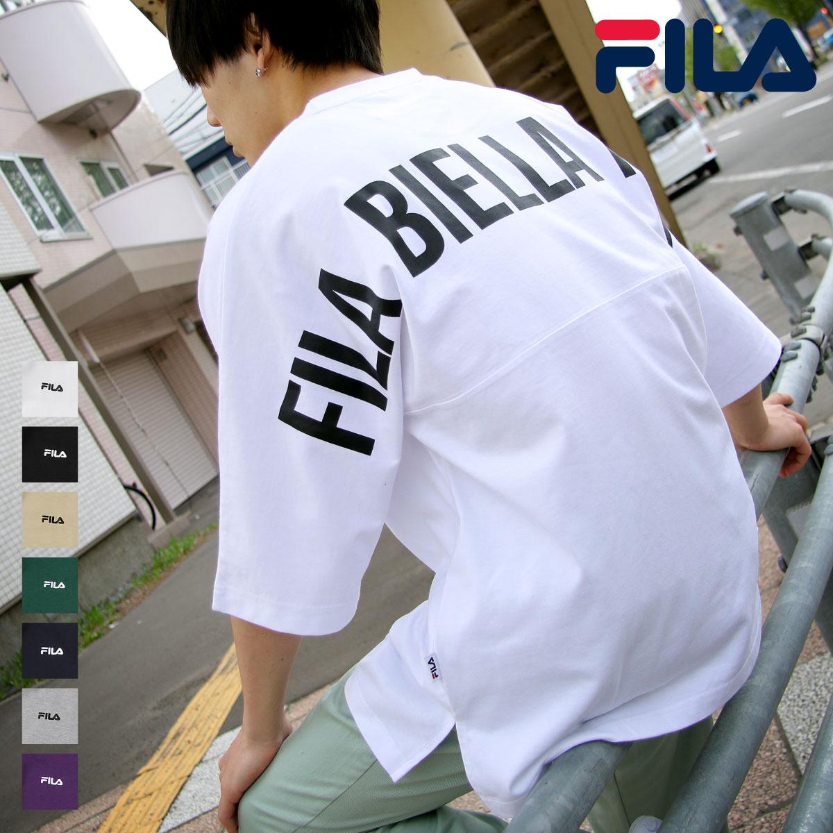 【FILA】背面印刷寬版短袖T恤 OVERSIZE 0