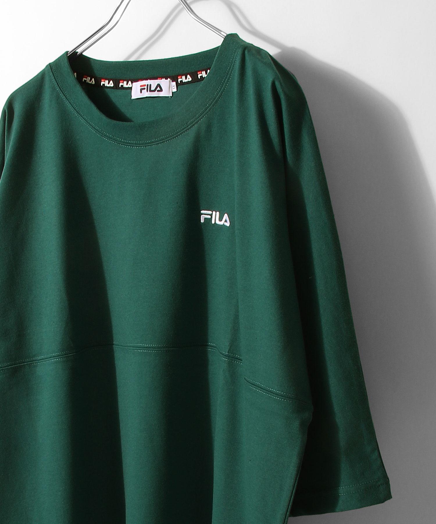 【FILA】背面印刷寬版短袖T恤 OVERSIZE 1