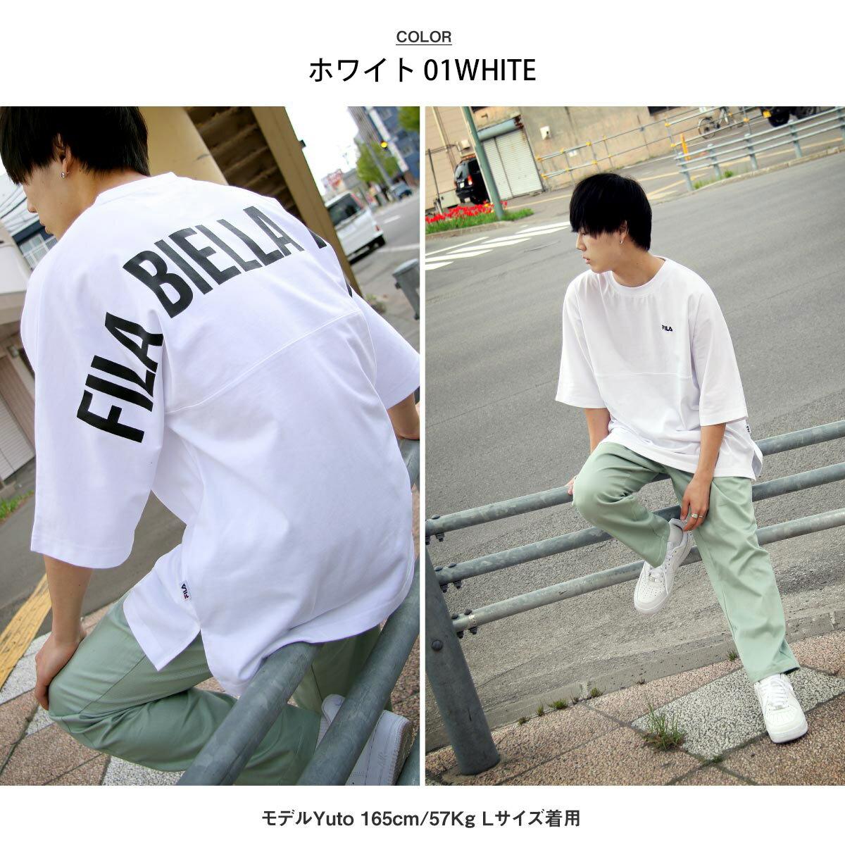 【FILA】背面印刷寬版短袖T恤 OVERSIZE 5