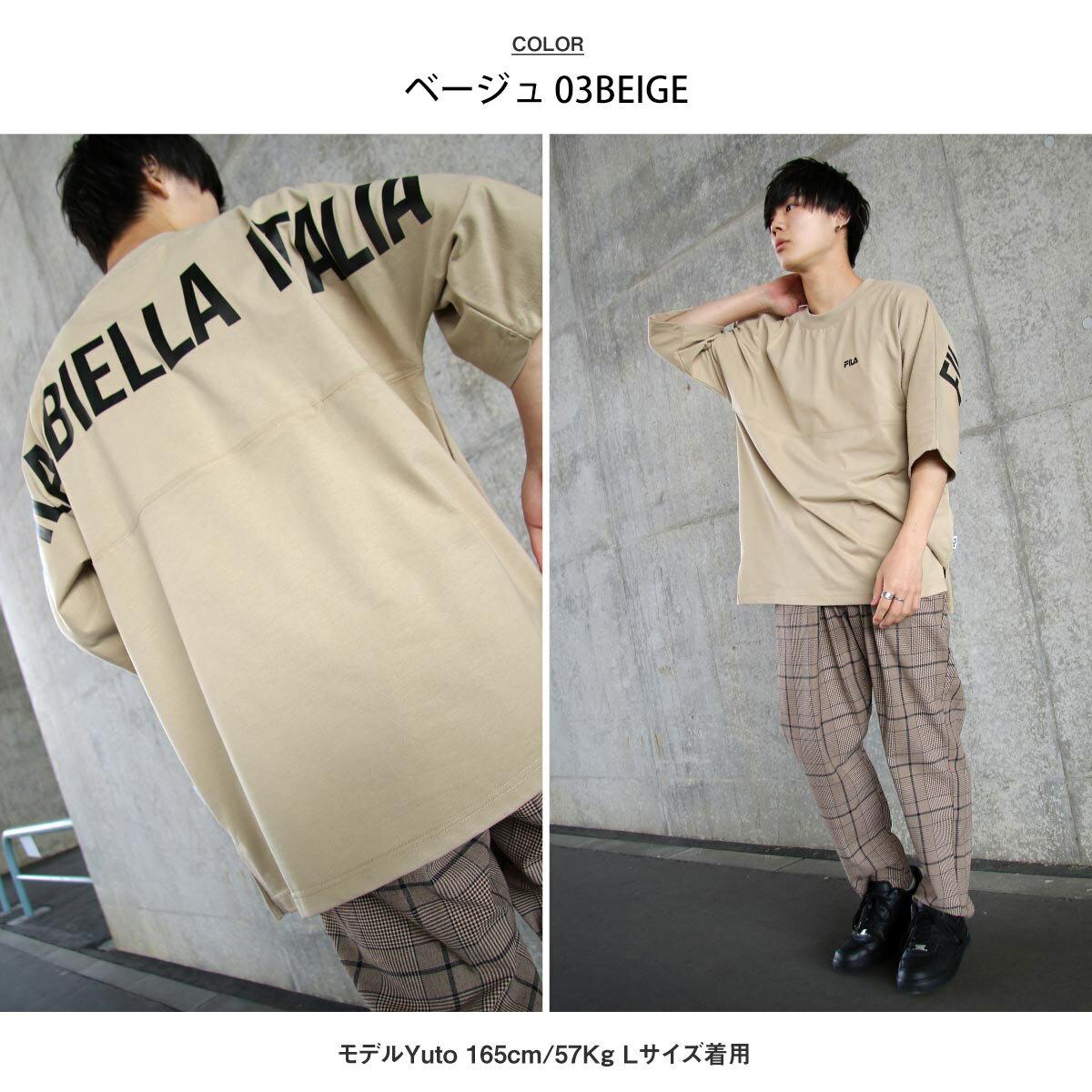 【FILA】背面印刷寬版短袖T恤 OVERSIZE 6