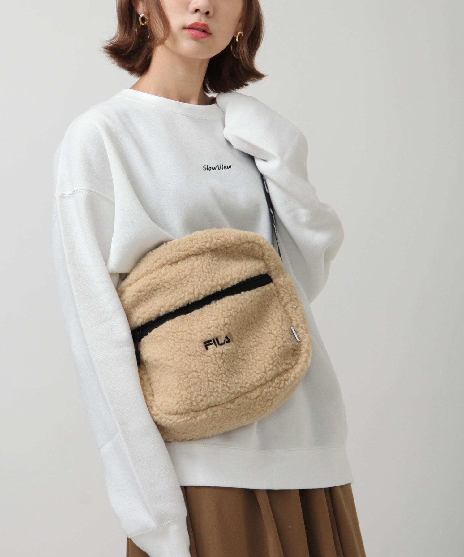 【FILA】BOA仿羊毛肩背斜背包 4