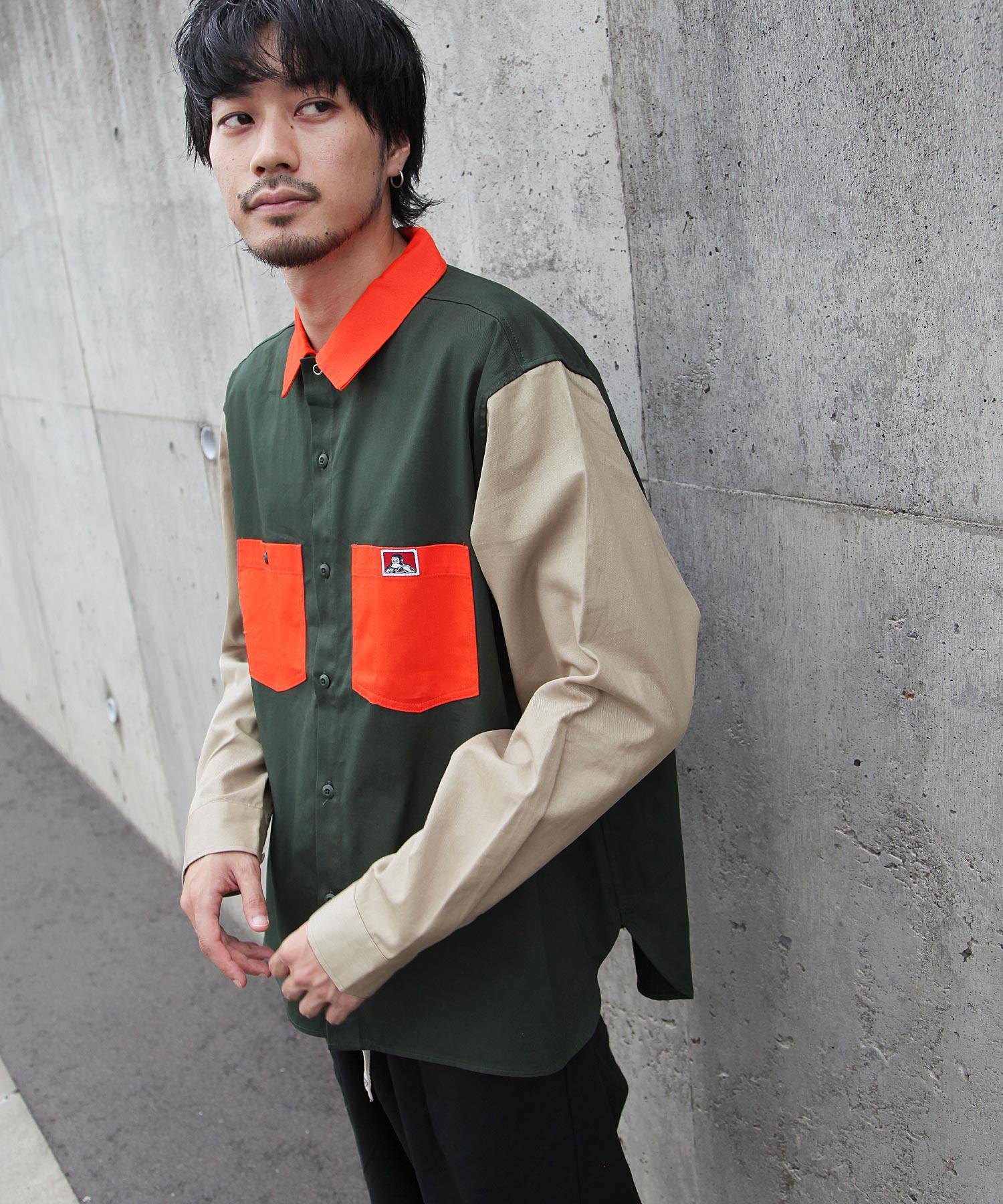 【BEN DAVIS】異色拼接工裝襯衫 4