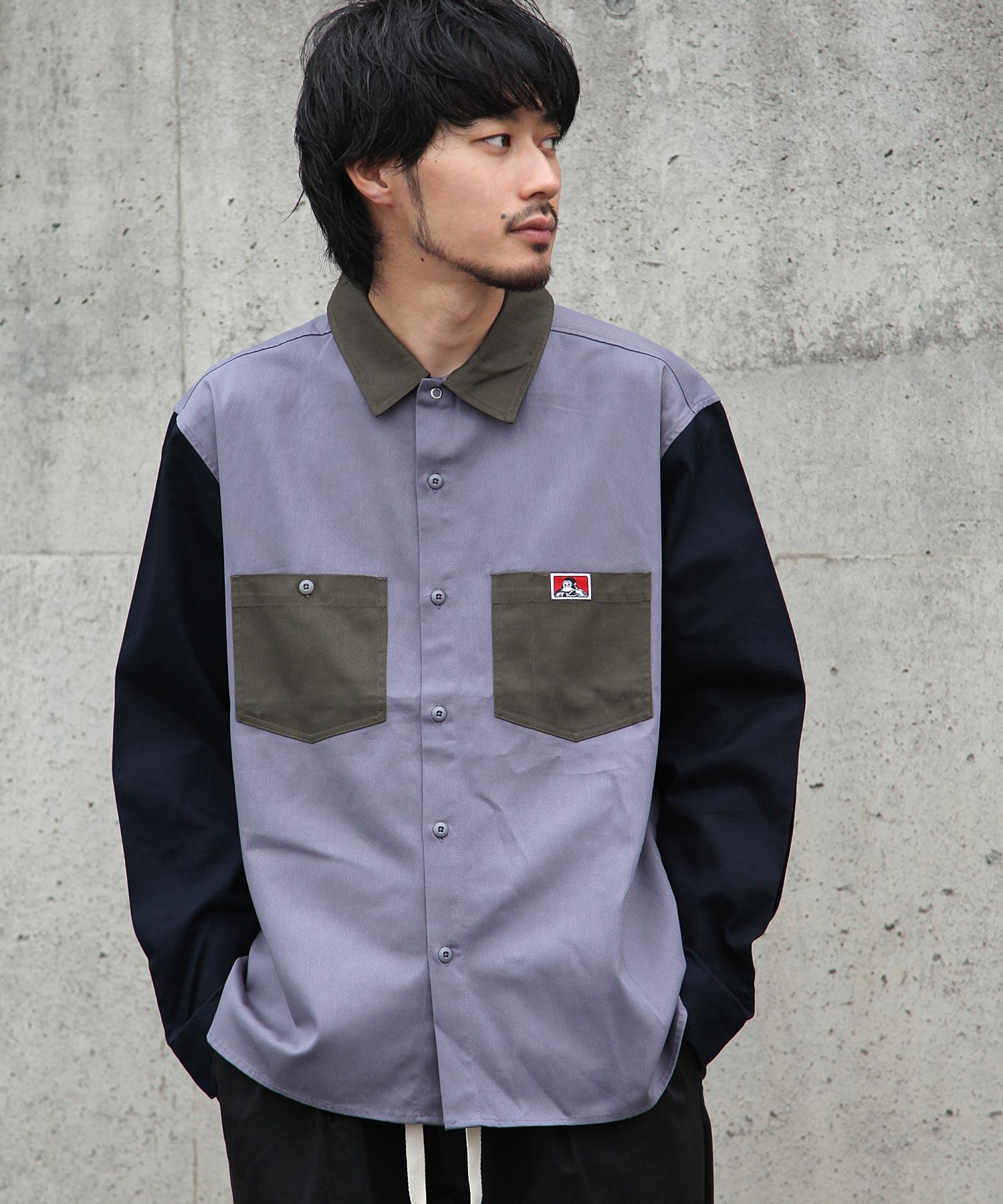 【BEN DAVIS】異色拼接工裝襯衫 2