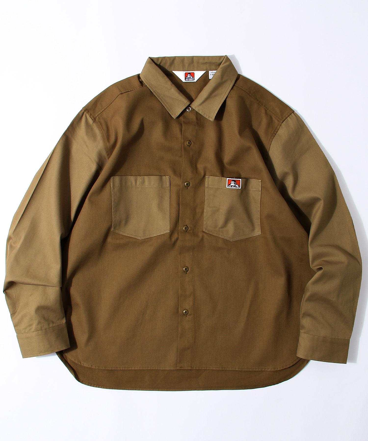 【BEN DAVIS】異色拼接工裝襯衫 1