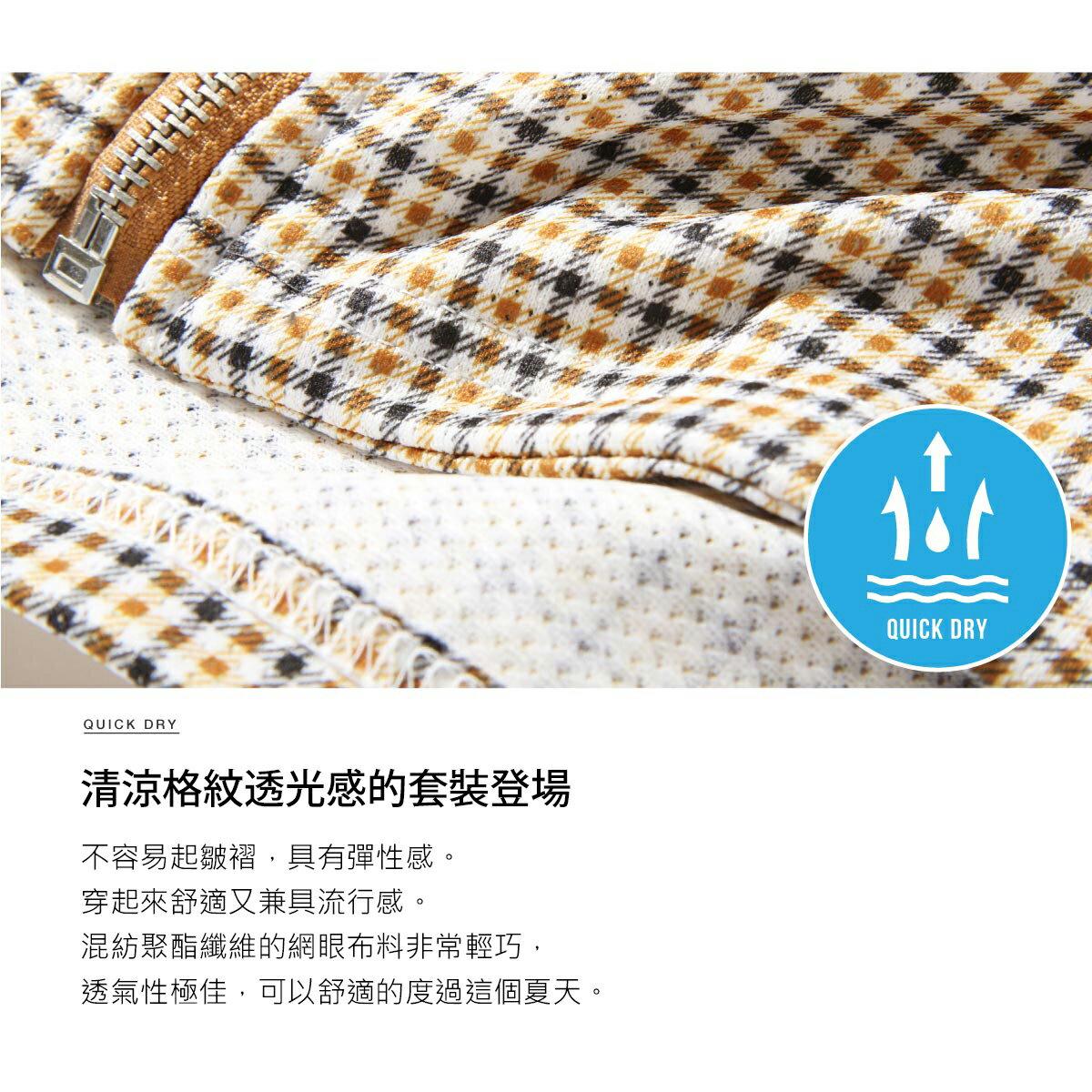 【領券再九折】【ZIP Select】網眼短袖拉鍊上衣&九分褲套裝 套裝 男 4